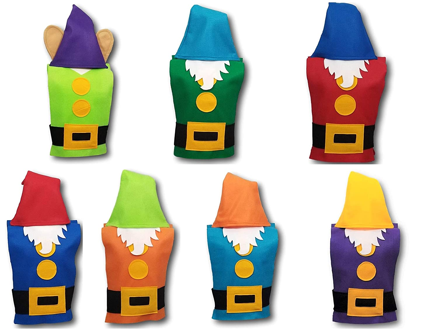 FULL COSTUME SETS Tunics, Hats, and Beards Baby // Toddler // Kids // Teen // Adult Sizes Set of 7: Adult Seven Dwarf Costume Sets - Snow White Dwarf Costume // Gnome Costume