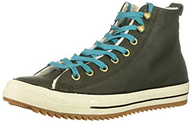 58c05117c2f27b Converse Chucks 162478C Green Leather Chuck Taylor All Star Hiker Boat  Utility Green Rapid Teal