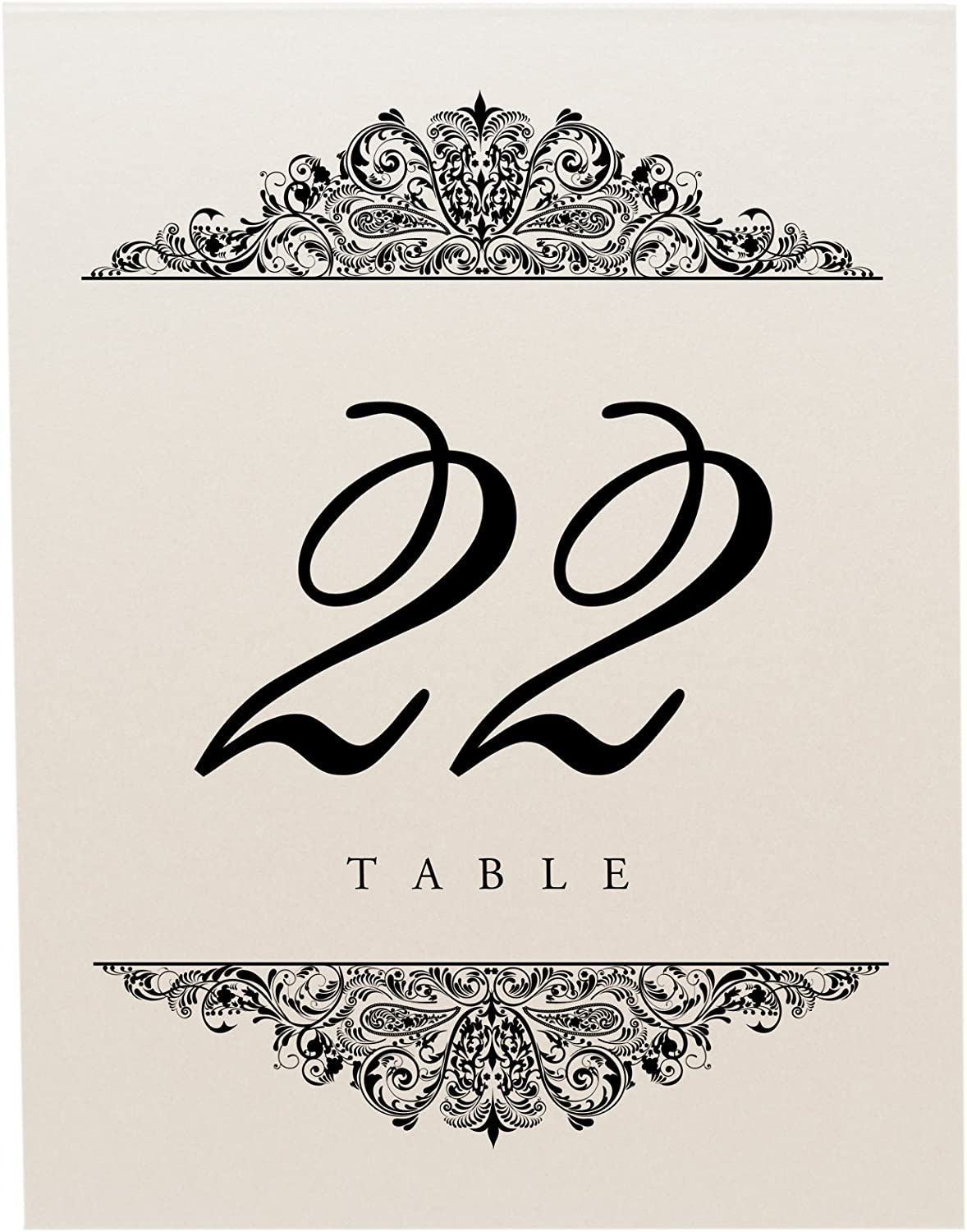 Restaurant Select Color//Quantity Black Party 1-10 Champagne Perfect for a Wedding Documents and Designs Paisley Table Numbers or Special Event