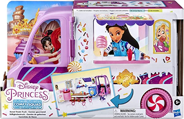 Disney Princess Comfy Squad Sweet Treats Truck playset for kids in package