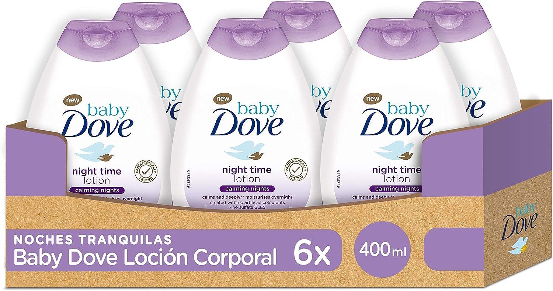 Baby Dove Loción para bebés Noches Tranquilas - Pack de 6 x 400 ml (Total: 2400 ml)