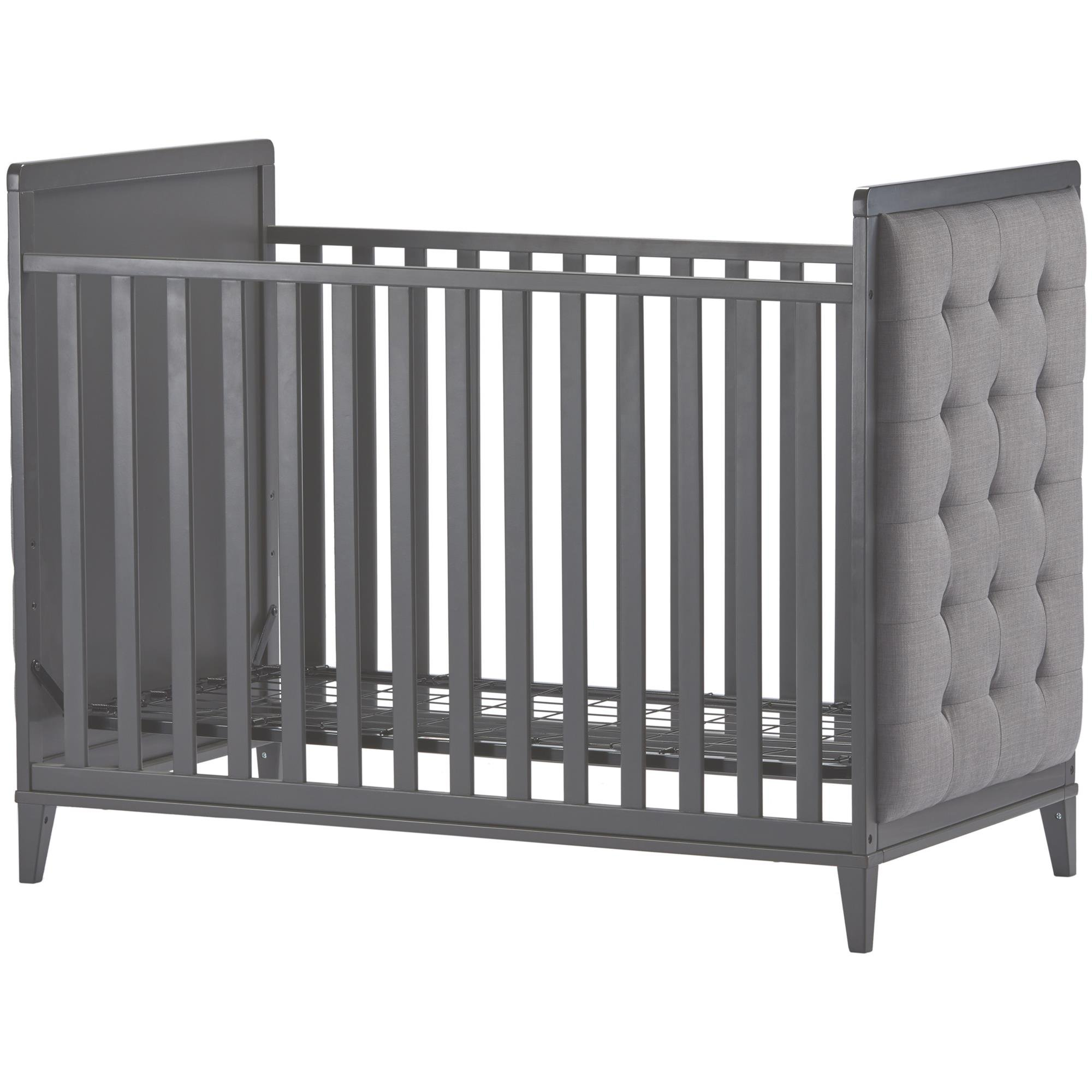 Little Seeds Monarch Hill Avery Upholstered Crib, Gray