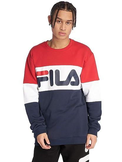 103e3e77e8e Fila Straight Blocked Crew Sweat, Sweatshirt Blue: Amazon.co.uk: Clothing