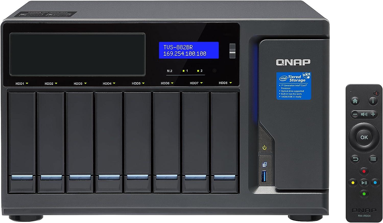 QNAP TVS-882BR Ethernet Escritorio Negro NAS - Unidad Raid (Unidad ...
