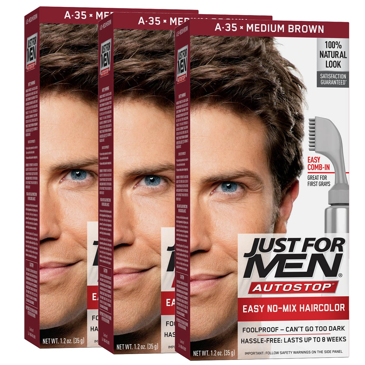 Amazon Just For Men Autostop Mens Comb In Hair Color Medium