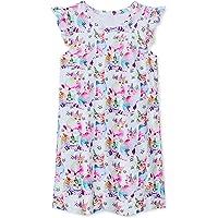 Idgreatim Camisones para niñas con manga aleada, vestidos de noche impresos, lindos para ropa de dormir de princesa…