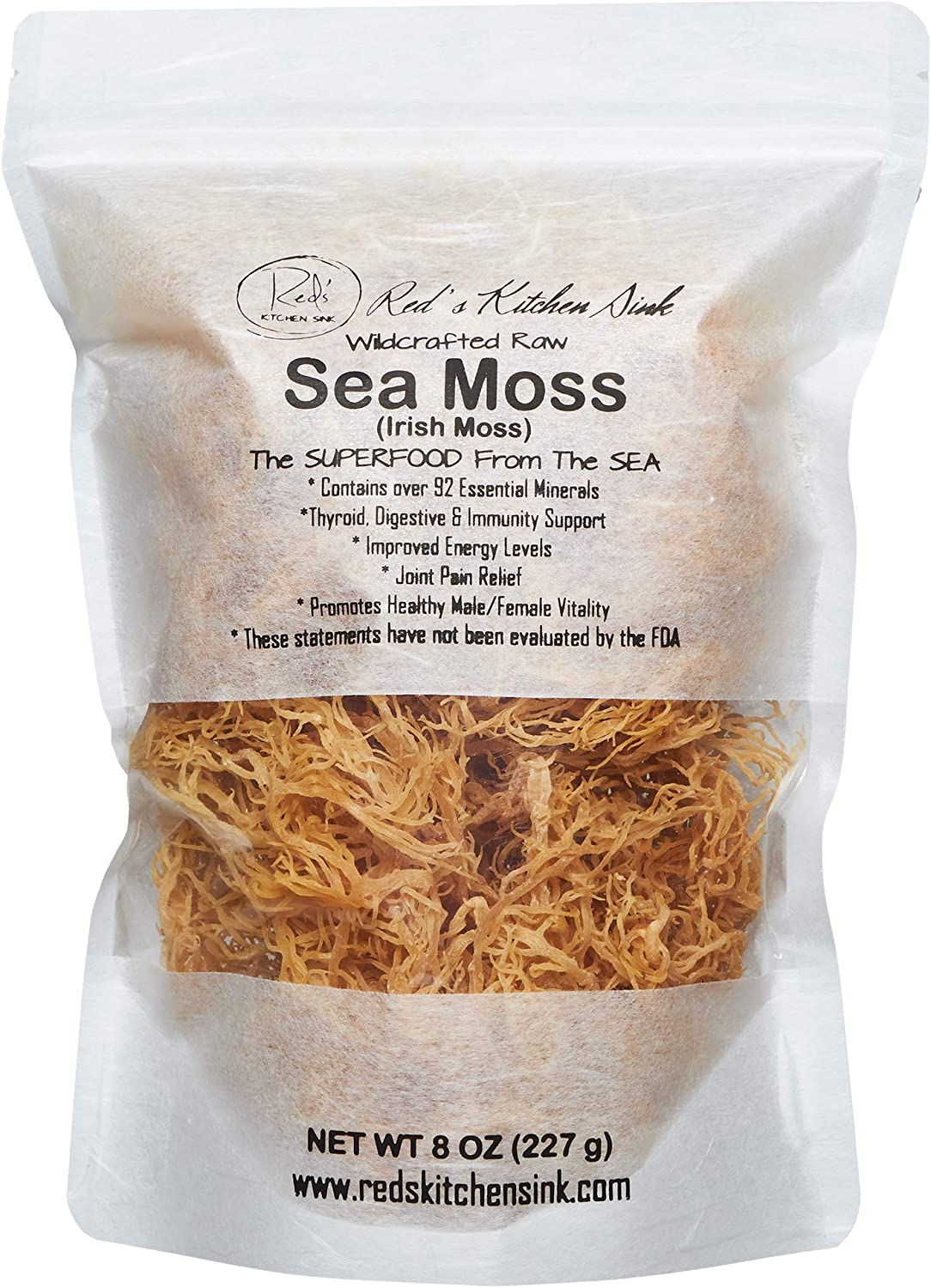 Amazon.com: Sea Moss/Irish Moss - Wildcrafted - 100% Natural, Raw, Vegan,  Imported from St. Lucia - Salt Free, Sand Free and Dry | Dr. Sebi - (8oz):  Health & Personal Care best sea moss