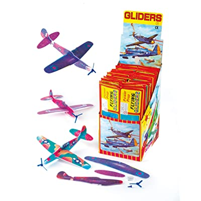 Baker Ross Power Prop Flying Gliders (Pack of 6) Easy Assembly Airplane Toy Glider Planes for Kids Toys, Birthday Party, School Classroom Rewards or Carnival Prizes: Toys & Games