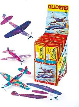 Baker Ross Aviones planeadores de 20 cm para regalar en concursos, juegos y fiestas infantiles (pack de 6): Amazon.es: Juguetes y juegos