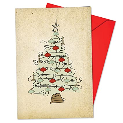 Christmas Card A For All Series Message Holiday Wish Card Christmas With Envelope Creative Letter Paper Thank You Card Office & School Supplies Mail & Shipping Supplies