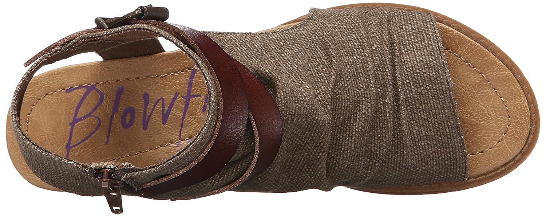 Blowfish Women's Balla Wedge Sandal B07BPCK1PM 40-41 M EU / 10 B(M) US|Brown Rancher Canvas/Whiskey Dyecut