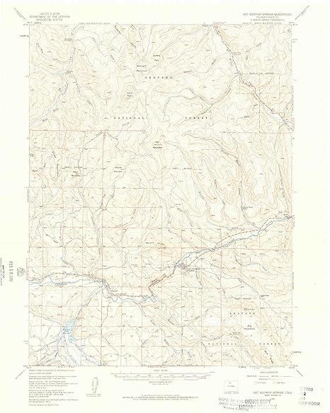 Hot Sulphur Springs Colorado Map.Amazon Com Yellowmaps Hot Sulphur Spring Co Topo Map 1 62500 Scale