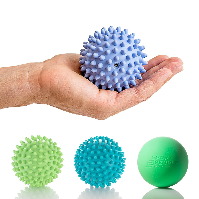 Der beste Massageball für Selbstmassage von Triggerpunkten – 3 verschiedene Härte – Igelball für Stress Therapie – Ideal für Fuß und Reflexzonen Massage, Plantarfasziitis und physischen zur Schmerzlinderung sport2people 4332667568