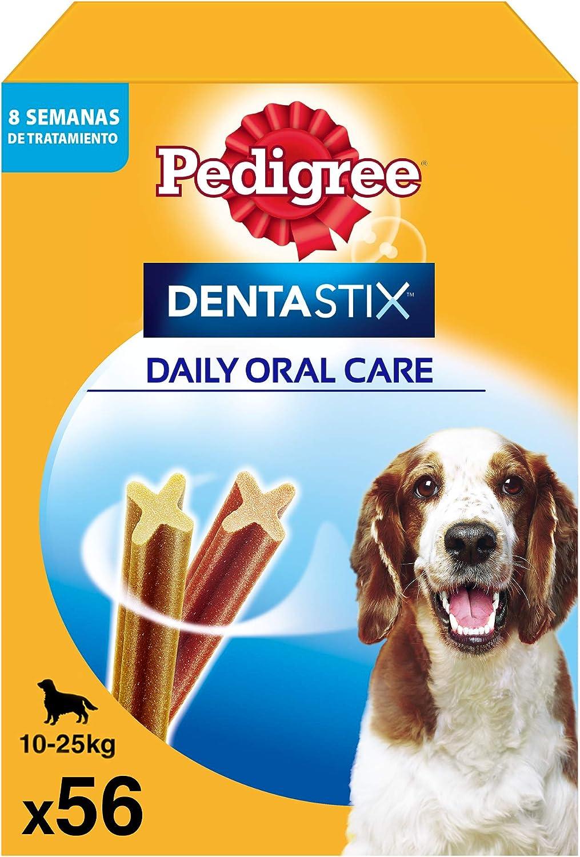 Pedigree Pack de 56 Dentastix de uso diario para la limpieza dental de perros medianos (Pack de 1)