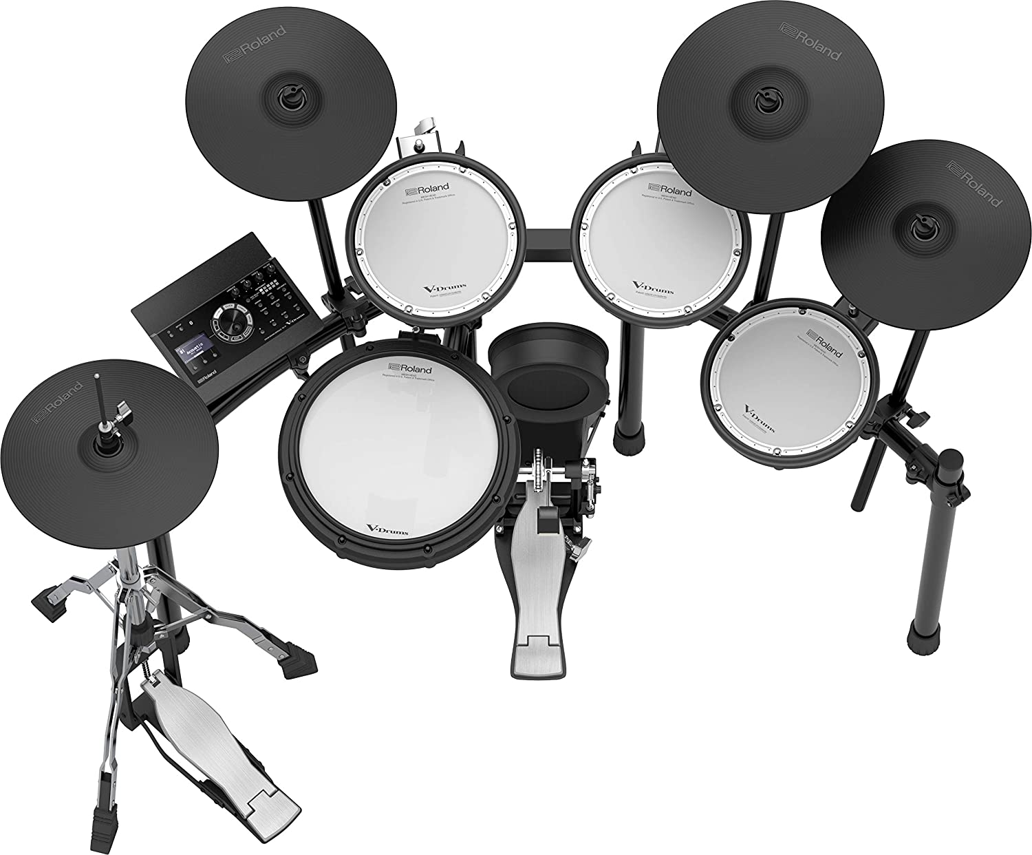 Roland PK TD-17KL-S Electronic Drum Set Package with ISK HP2000 Black Headphones 3 Pairs of Sticks Aux Cable Starter Pack M and Free Mobile Holder