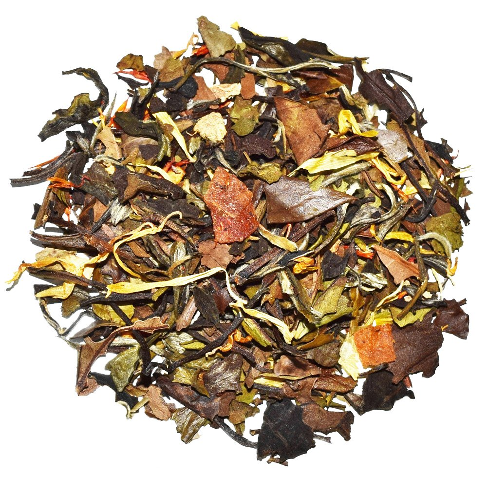 Orange Peach White Tea - Chinese Tea - Caffeinated - Loose Leaf Tea - 8oz