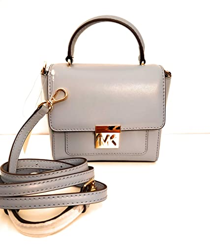 5d331d8ac0 Michael Kors petit sac à main et bandoulière cuir mindy pale blue 15x15x6m  neuf