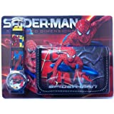 SPIDERMAN WATCH AND WALLET SET FOR BOYS [Styles May Vary]