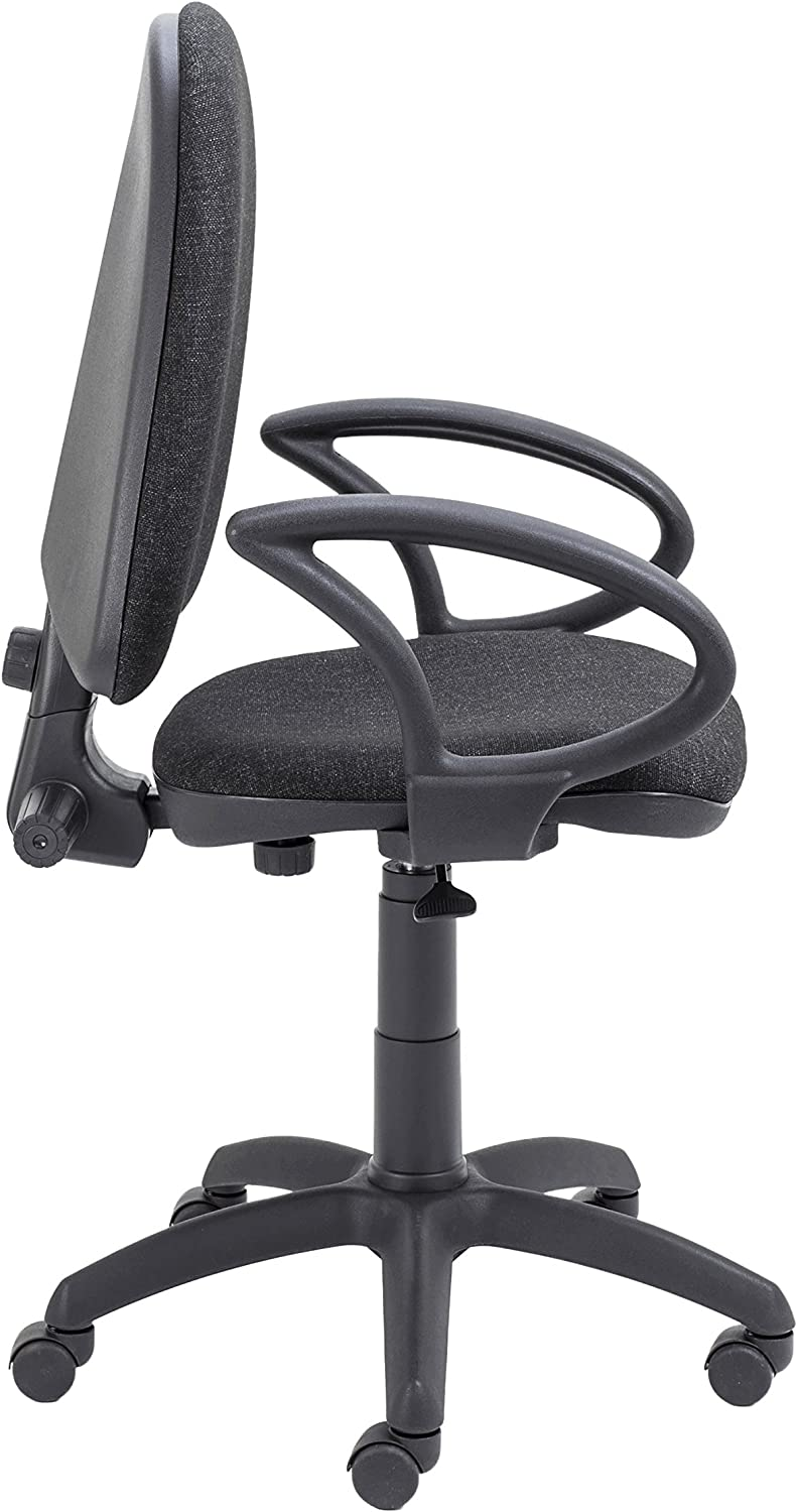 Fabric Office Hippo High Back Operator Office Swivel Chair With Height Adjustable Arms Black
