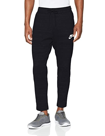 8c3abe130 Nike Mens AV15 Knit Jogger Sweatpants Black/Heather/White 885923-010 Size  Small