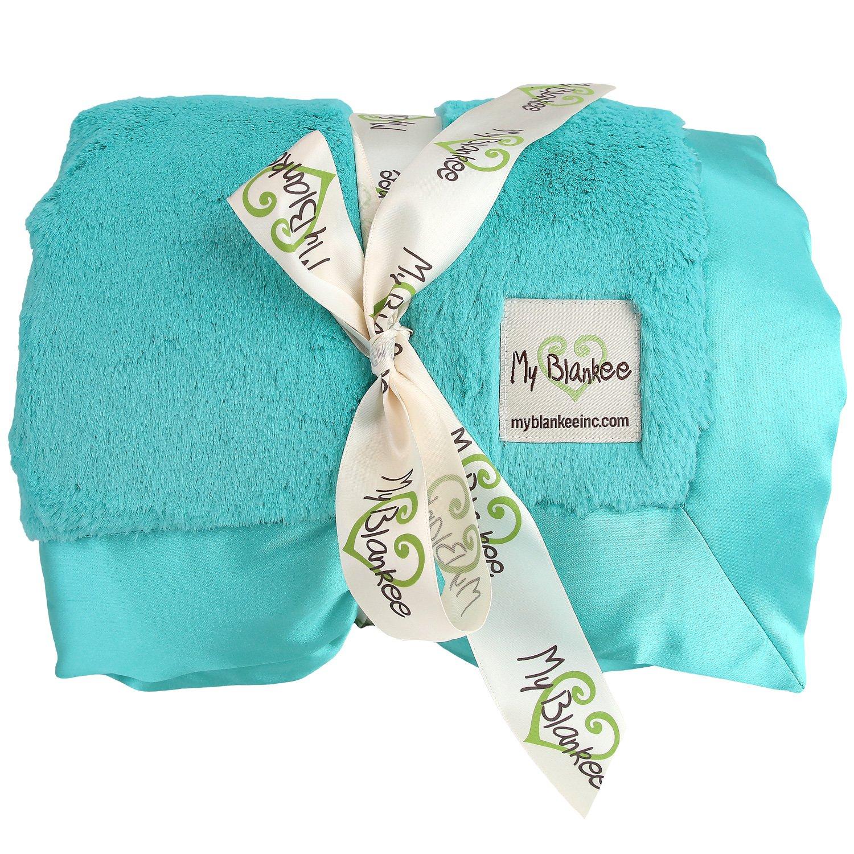 My Blankee Luxe Throw Blanket, Teal, 52'' X 60''