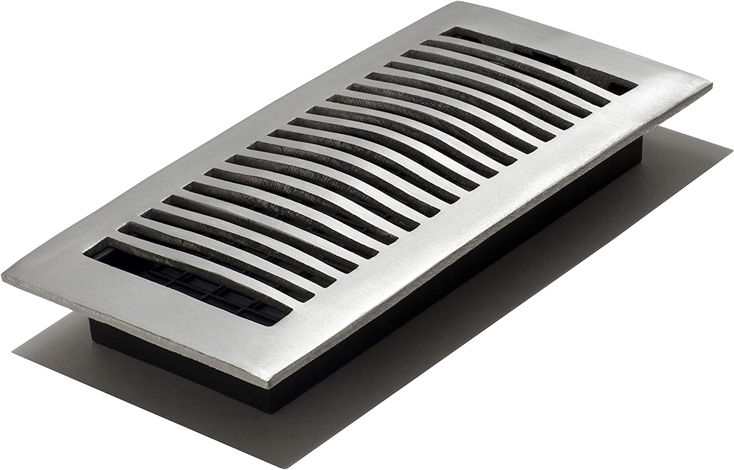 Decor Grates LA410-NKL 4-Inch by 10-Inch Aluminum Floor Register, Nickel