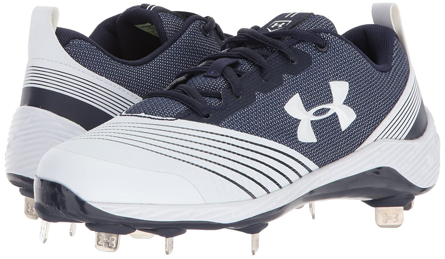 Under Armour Women's Glyde St Softball Shoe B06XCDLC93 9 M US|White (141)/Midnight Navy