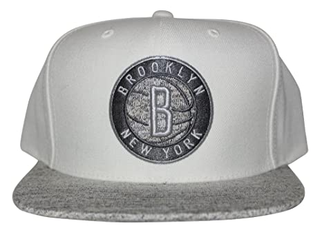 sale retailer c0d9f dc793 ... italy mitchell ness nba solid crown spaceknit visor snapback hat cream  gray brooklyn nets e0faa b7faf
