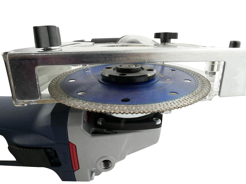 PRODIAMANT Absaughaube passend f/ür 115mm und 125mm Winkeschleifer zum staubfreien Trennen Adapterringen und Staubsaugeranschluss inkl