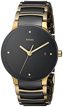 f07856778e Amazon.com: Rado Men's R30929712 Centrix Jubile Gold Plated ...