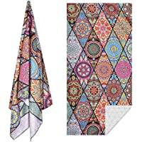 Sand Free Microfibre Beach Towel Extra Large 180x90cm Super Soft Highly Absorbant Light Weight with Hanging Hook
