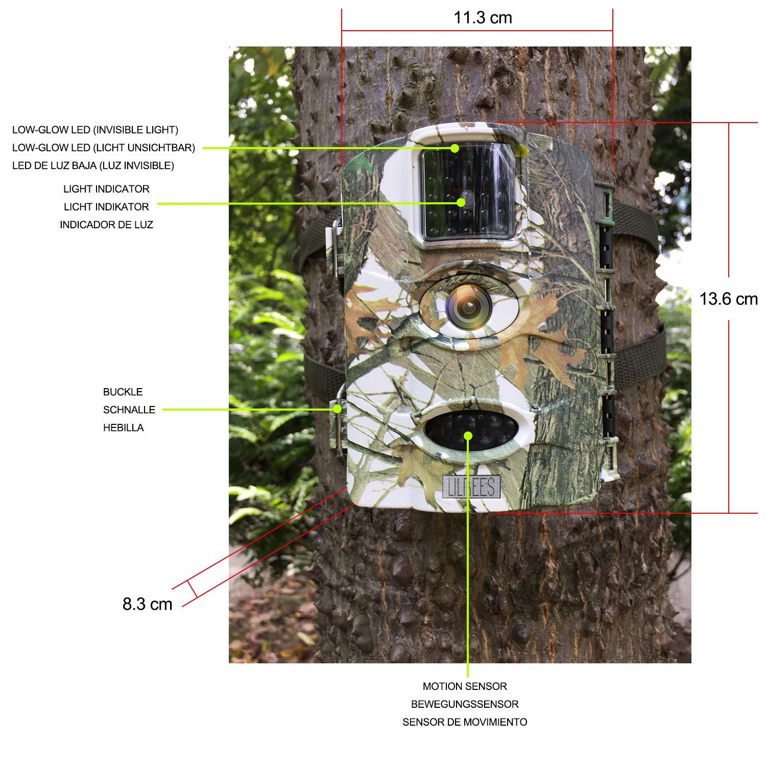 Amazon.com : Lilbees Trail Game Camera 16MP 1080P Waterproof Hunting Scouting Cam Wildlife Monitoring Motion Activated Night Vision 2.4