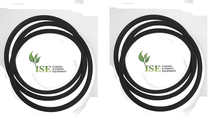 ISE® set di ricambio gratuito e Deck cinture per Viking MT 6112.0 ZL (23HP) sostituisce Drive Belt Part Number 6170 704 2120 e sostituisce Deck Belt Part Number 6170 704 2111