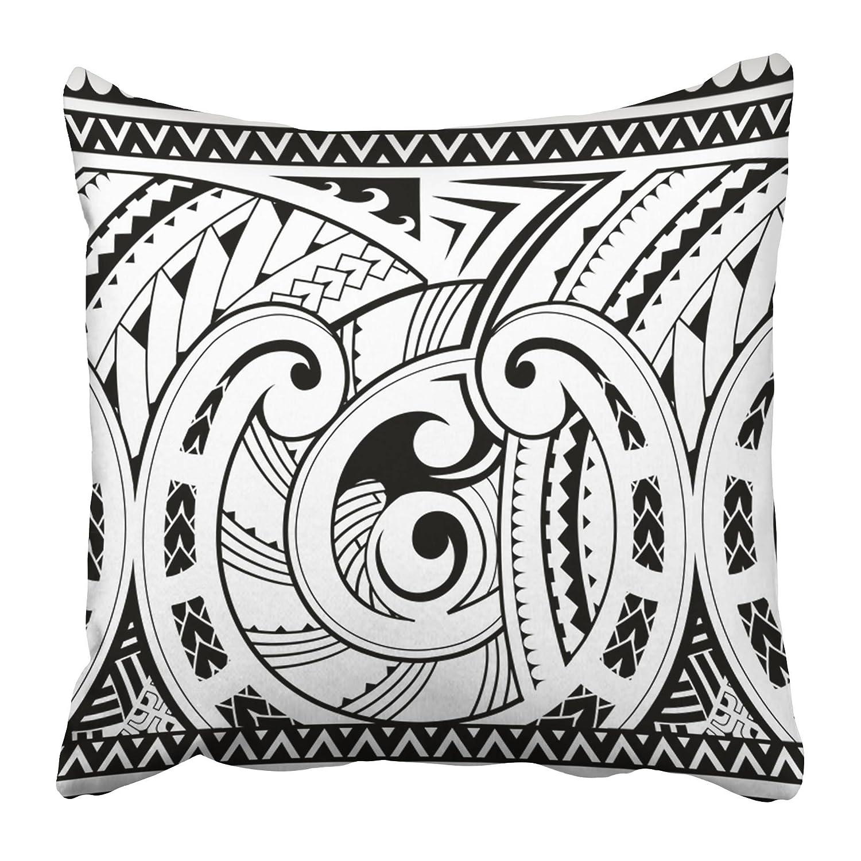 Emvency Funda de Almohada Decorativa Estilo Tribal maorí Tatuaje ...
