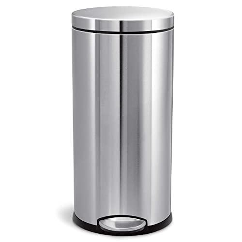 Simplehuman 30 Liter / 8 Gallon Round Step Trash Can