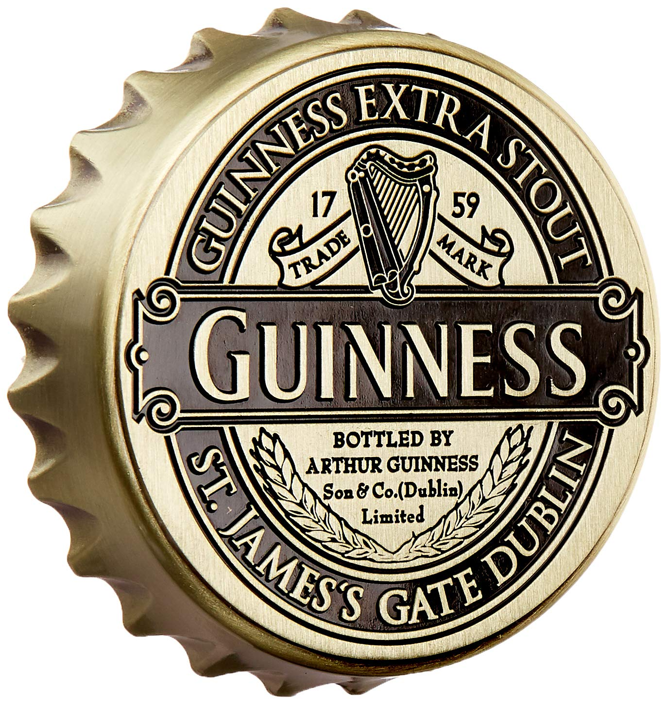 Screwcap Bottle Opener Magnet Guinness Ireland Collection