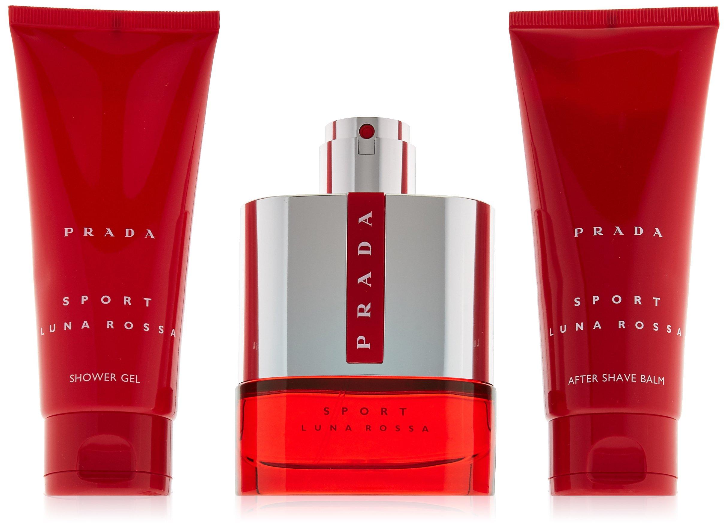 Prada Luna Rossa Sport for Men 3 PC (3.4 Eau De Toilette / 3.4 shower gel / 3.4 after shave balm) by Prada