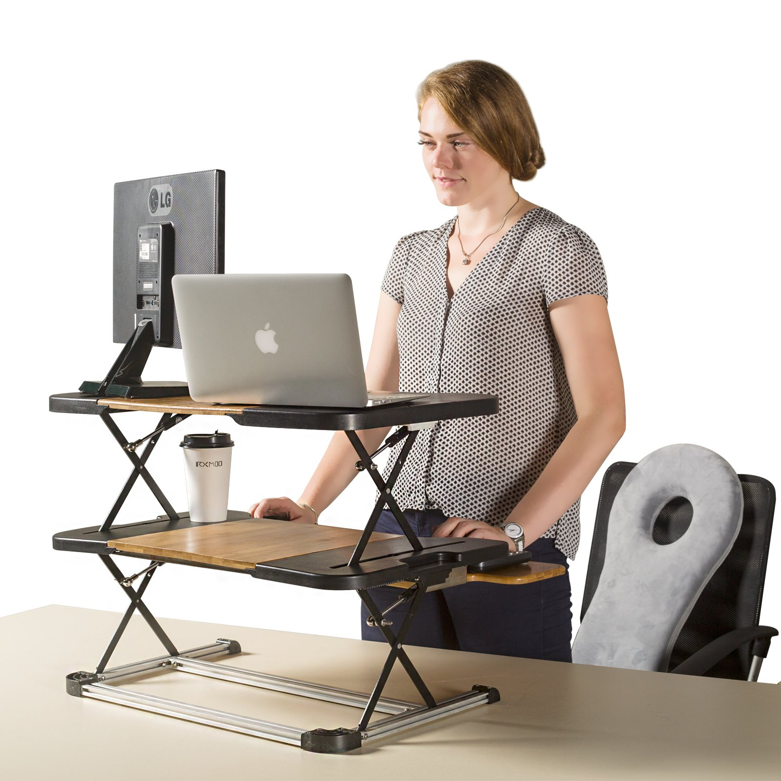 Standing Desk- Omax Heigh Adjustable Desk/Table Comfortable Stand Up Table Removed Computer Laptop Stand Desk Working Table