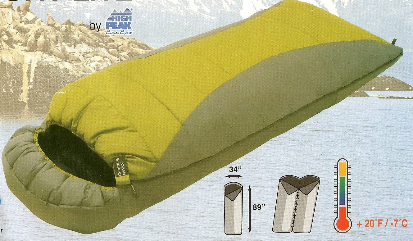 Sleeping Bag COMFORT LITE Over-Sized 3-Season Rectangular Sleeping Bag with Hood