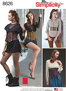 product image for Simplicity Women's Corset Belt with Waist Cincher Cosplay Costume Accessory Sewing Patterns by Karen Fleisch, Sizes 14-22