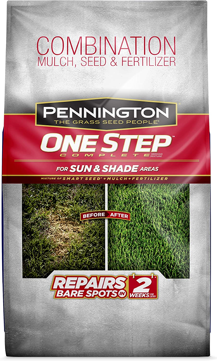 Pennington 100086822 One Step Complete Grass Seed For Sun & Shade Areas, 8.3 Pounds : Grass Plants : Garden & Outdoor