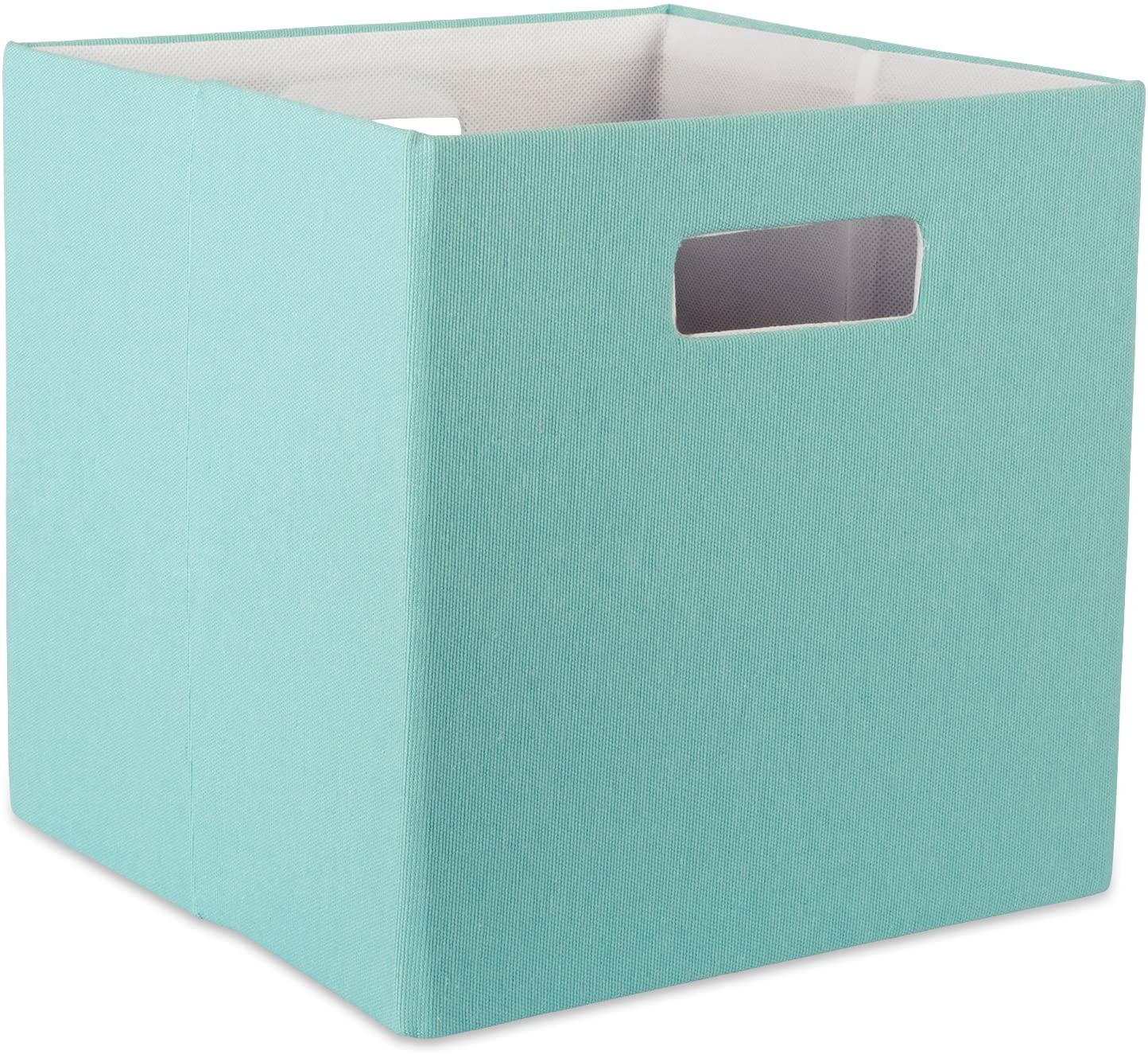 11x11x11 Home Organization, -Solid Off White Offices DII Hard Sided Collapsible Fabric Storage Container for Nursery
