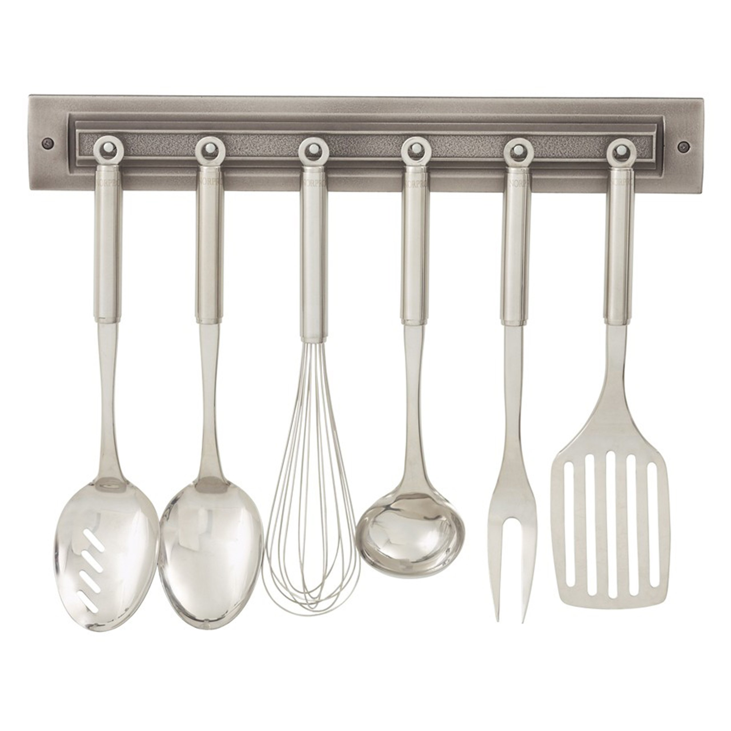 Utensil Rack Finish: Brushed Nickel by RQ Home