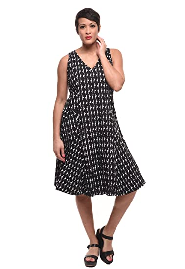 4a09443ea58 Tulip Clothing Myla Dress in Black Flamingo Print at Amazon Women s ...