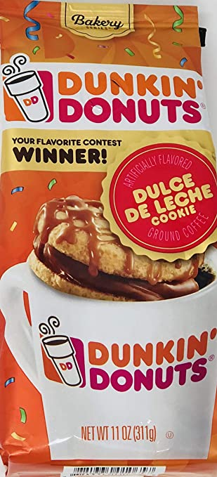 Amazon.com : Dunkin Donuts Dulce De Leche Cookie Ground Coffee (Pack of 3) - 11 oz each - Bakery Series : Grocery & Gourmet Food