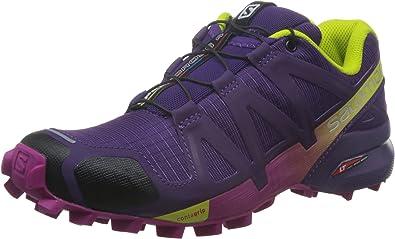 Salomon L38310300, Zapatillas de Trail Running para Mujer, Morado (Cosmic Purple/Deep Dalhia/Gecko Gre), 44 EU: Amazon.es: Zapatos y complementos