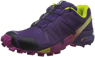 Damen L38310300 Traillaufschuhe, Violett (Cosmic Purple/Deep Dalhia/Gecko Gre Cosmic Purple/Deep Dalhia/Gecko Gre), 43 1/3 EU Salomon