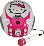Kids Karaoke Machine Boombox with Microphone CD+G DC plus Graphic Featuring Anna, Elsa and Olaf (Frozen)