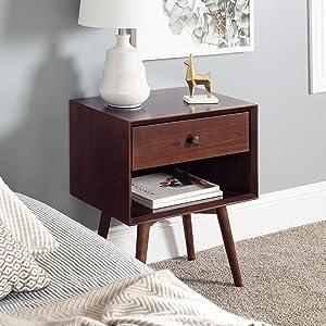 WE Furniture nightstand, Walnut