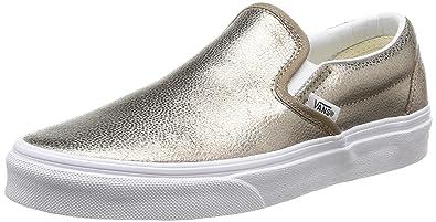 vans women's asher slip on sneaker bronze